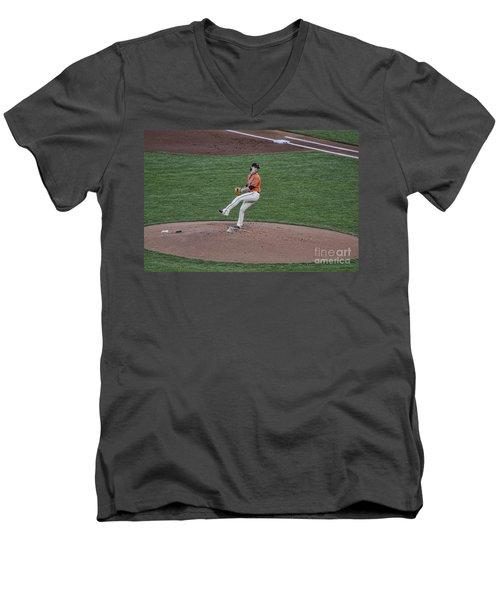 The Big Pitcher Men's V-Neck T-Shirt