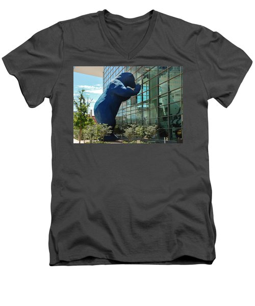 The Blue Bear  Men's V-Neck T-Shirt