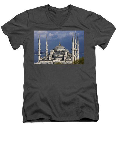 The Blue Mosque In Istanbul Men's V-Neck T-Shirt