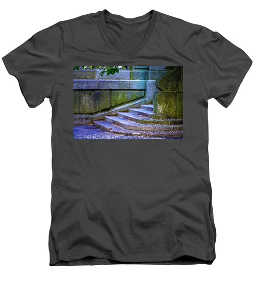 The Blue Stairs Men's V-Neck T-Shirt