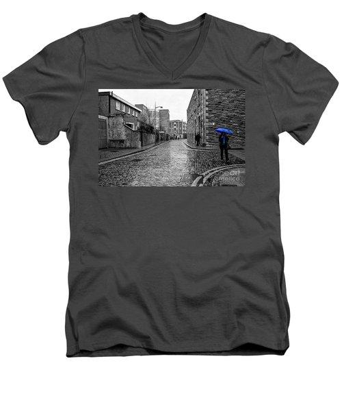 The Blue Umbrella - Sc Men's V-Neck T-Shirt by Mary Carol Story