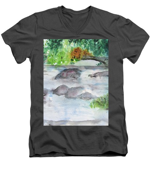 The Bog On Tupper Lake Men's V-Neck T-Shirt