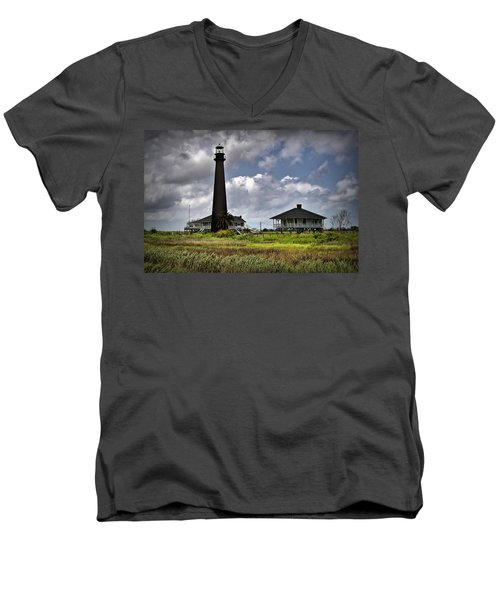 The Bolivar Lighthouse Men's V-Neck T-Shirt