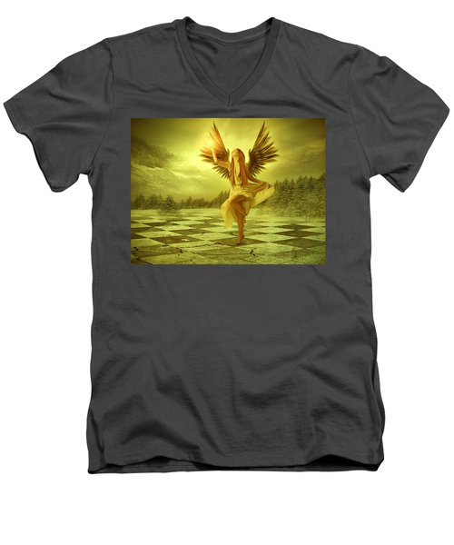 Men's V-Neck T-Shirt featuring the photograph The Calling by Ester  Rogers