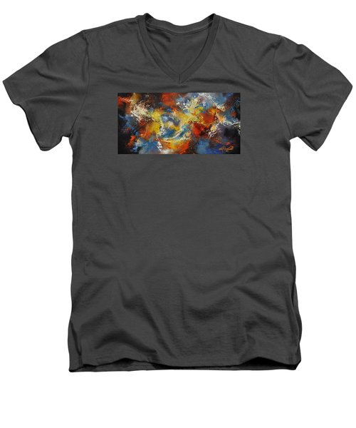 The Calm Through The Storm Men's V-Neck T-Shirt by Craig T Burgwardt