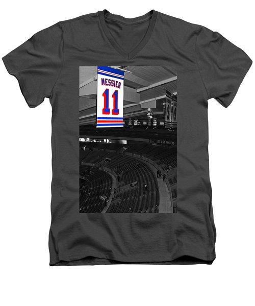 The Captain Looks Over Men's V-Neck T-Shirt