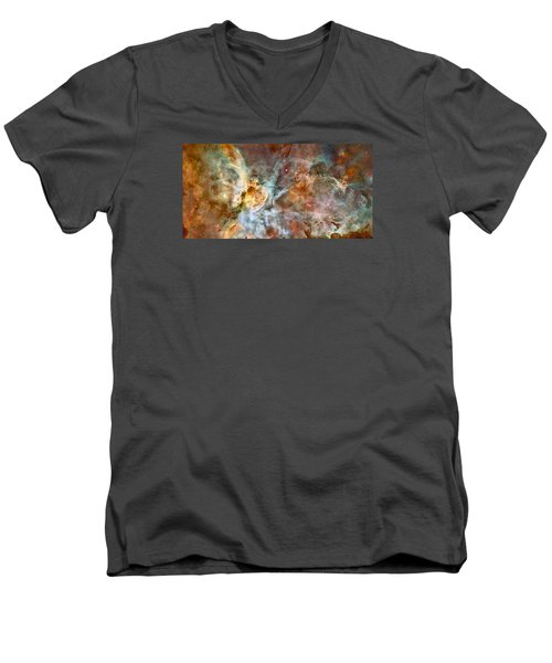 The Carina Nebula Men's V-Neck T-Shirt by Nasa