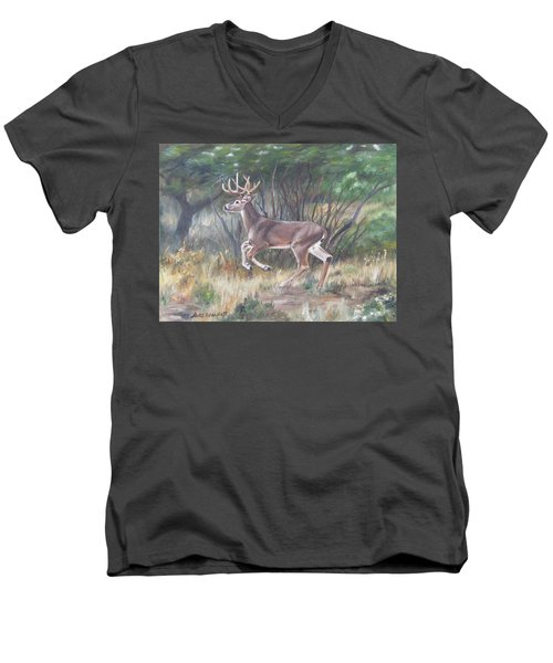 The Chase Is On Men's V-Neck T-Shirt