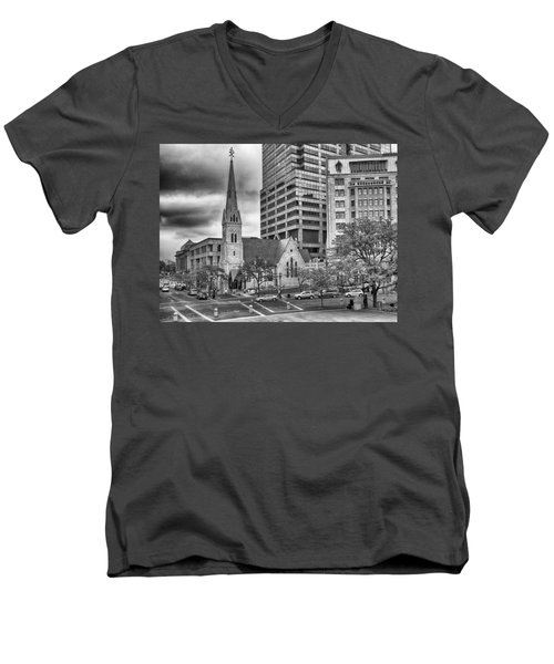 The Church Men's V-Neck T-Shirt by Howard Salmon