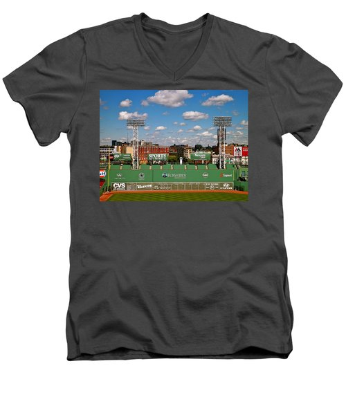 The Classic II Fenway Park Collection  Men's V-Neck T-Shirt by Iconic Images Art Gallery David Pucciarelli
