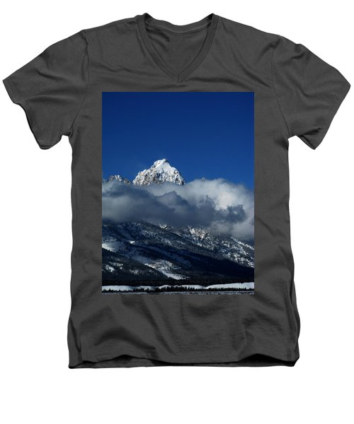 Men's V-Neck T-Shirt featuring the photograph The Clearing Storm by Raymond Salani III