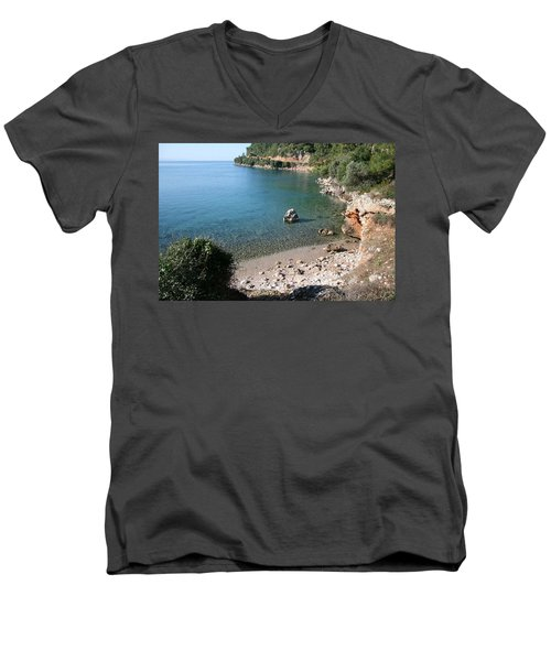 Men's V-Neck T-Shirt featuring the photograph The Coast To Oren  by Tracey Harrington-Simpson