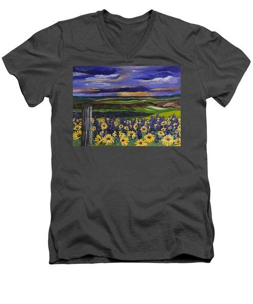 The Colors Of The Plateau Men's V-Neck T-Shirt by Jennifer Lake