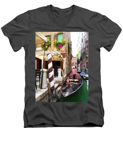 The Colors Of Venice Men's V-Neck T-Shirt