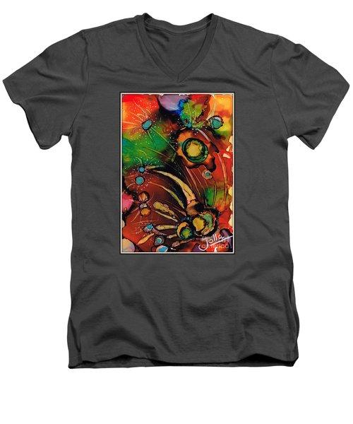 The Colours Of My Mind.. Men's V-Neck T-Shirt by Jolanta Anna Karolska