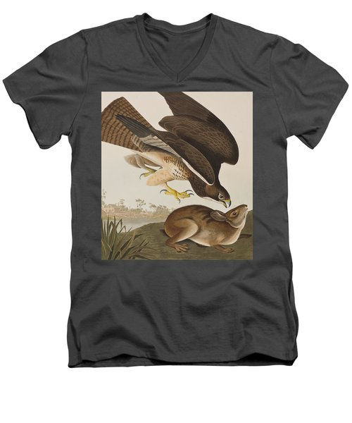 The Common Buzzard Men's V-Neck T-Shirt by John James Audubon