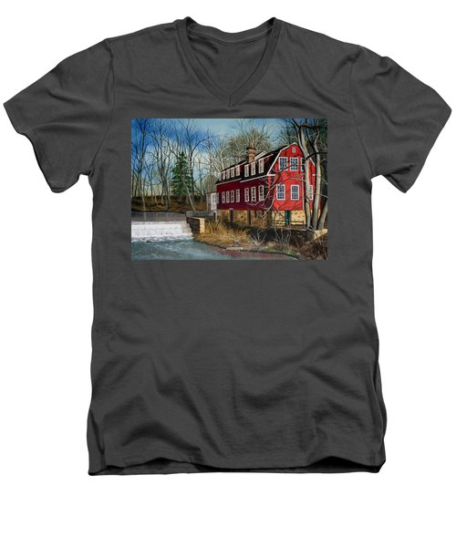 The Cranford Mill Men's V-Neck T-Shirt