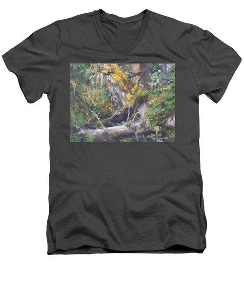 The Crying Log Men's V-Neck T-Shirt