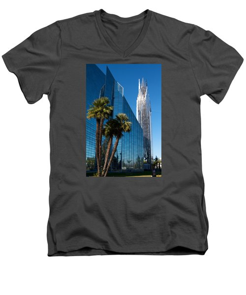 The Crystal Cathedral  Men's V-Neck T-Shirt