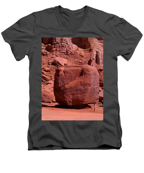 Men's V-Neck T-Shirt featuring the photograph The Cube by Fortunate Findings Shirley Dickerson