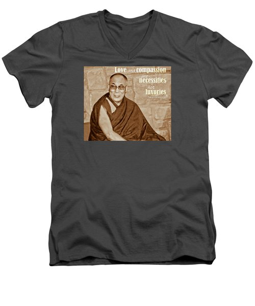 The Dalai Lama Men's V-Neck T-Shirt