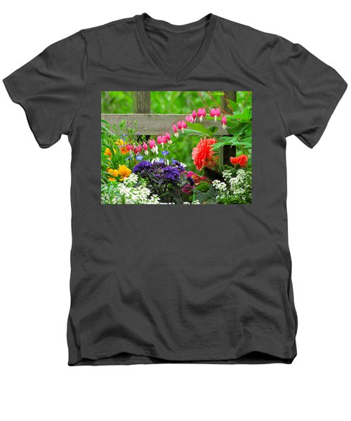 Men's V-Neck T-Shirt featuring the photograph The Dance Of Spring by Sean Griffin