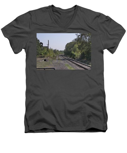The Depature Men's V-Neck T-Shirt by Mustafa Abdullah