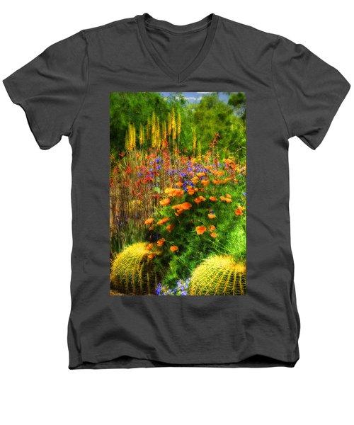 The Desert Abloom Men's V-Neck T-Shirt