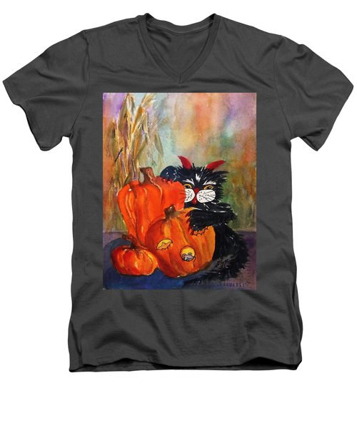 The Devil Made Me Do It Men's V-Neck T-Shirt