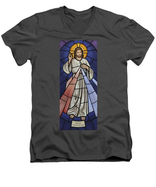 The Divine Mercy Men's V-Neck T-Shirt