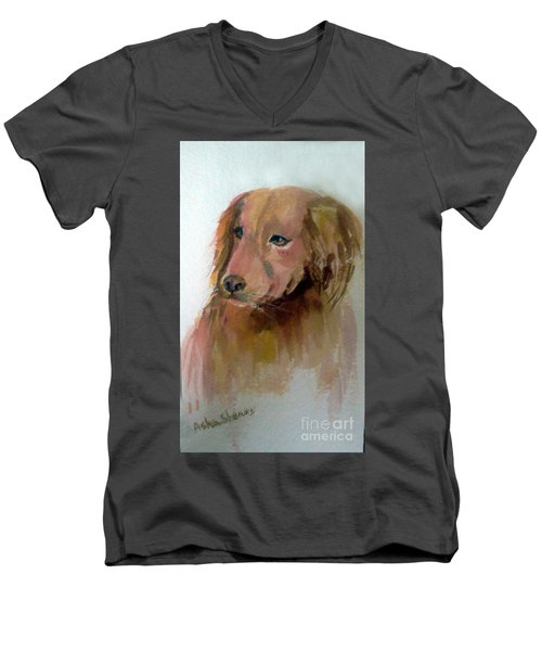 The Doggie Men's V-Neck T-Shirt