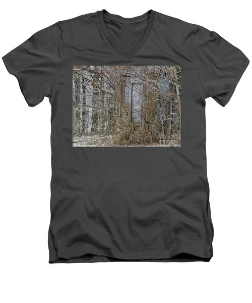 Men's V-Neck T-Shirt featuring the photograph The Door To The Past by Wilma  Birdwell