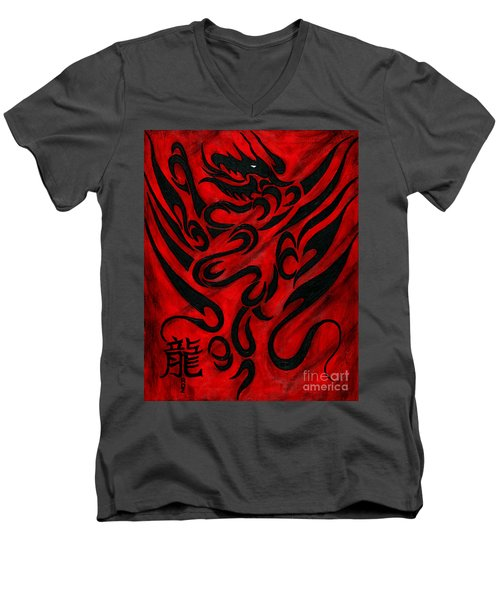 The Dragon Men's V-Neck T-Shirt