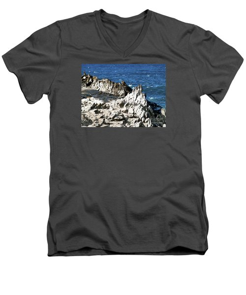 The Dragons Teeth I Men's V-Neck T-Shirt by Patricia Griffin Brett