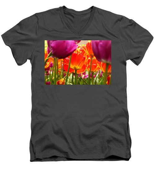 The Drooping Tulip Men's V-Neck T-Shirt