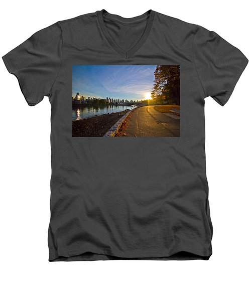 Men's V-Neck T-Shirt featuring the photograph The Emerald City by Eti Reid