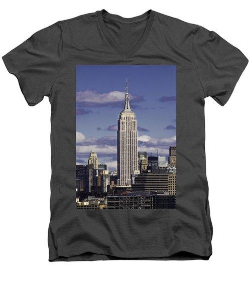 The Empire State Building Men's V-Neck T-Shirt
