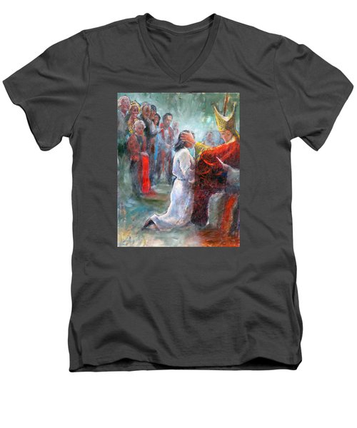 The Episcopal Ordination Of Sierra Wilkinson Men's V-Neck T-Shirt by Gertrude Palmer