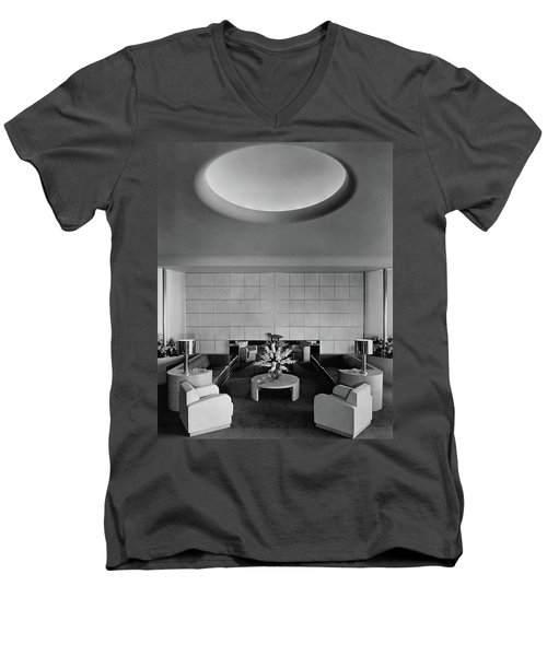 The Executive Lounge At The Ford Exposition Men's V-Neck T-Shirt