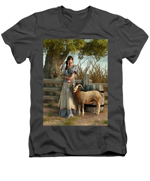 The Farmer's Daughter Men's V-Neck T-Shirt