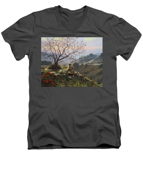 The Fig Tree   Mt Carmel Men's V-Neck T-Shirt