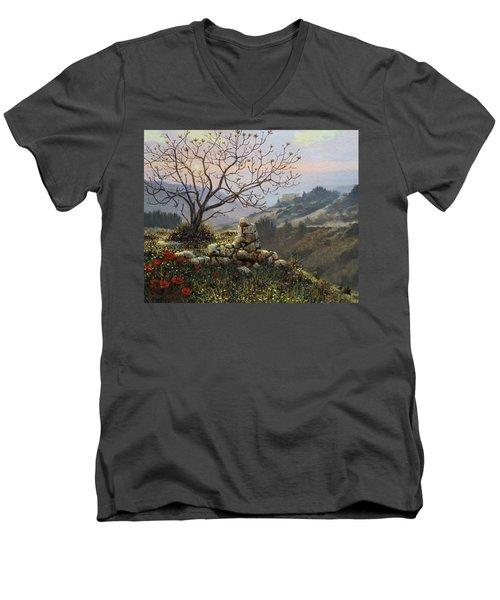 The Fig Tree   Mt Carmel Men's V-Neck T-Shirt