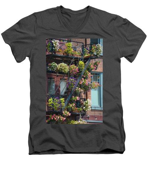 The Fire Escape Men's V-Neck T-Shirt