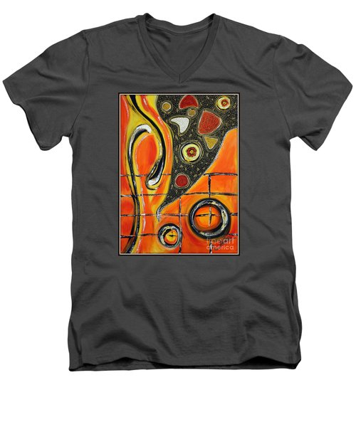 The Fires Of Charged Emotions Men's V-Neck T-Shirt