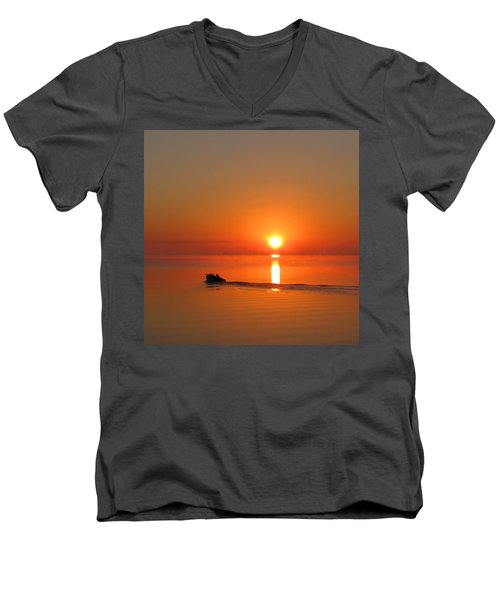 The Fish Are Waiting Men's V-Neck T-Shirt
