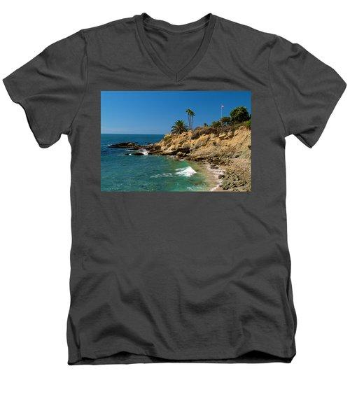 The Flag Men's V-Neck T-Shirt by Richard J Cassato