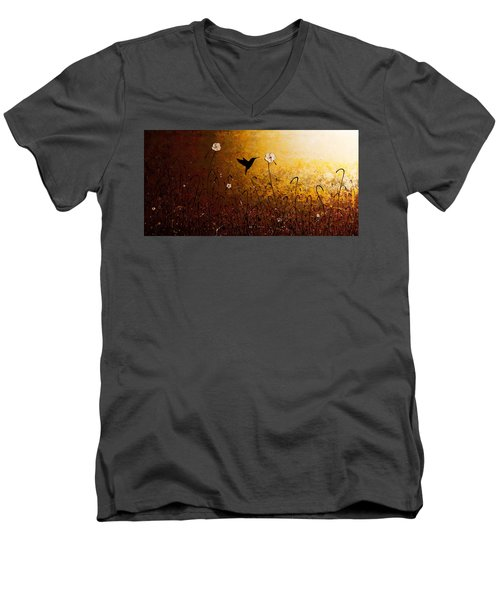 The Flight Of A Hummingbird Men's V-Neck T-Shirt