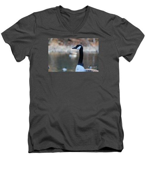 The Gander Men's V-Neck T-Shirt by David Jackson