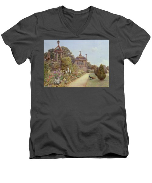 The Gardens At Montacute In Somerset Men's V-Neck T-Shirt by Ernest Arthur Rowe