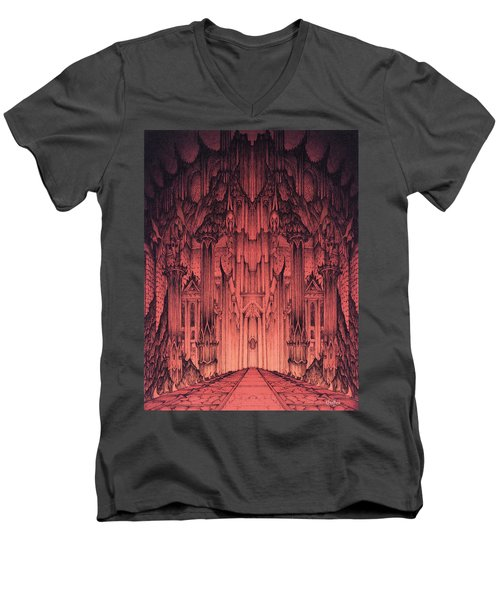 The Gates Of Barad Dur Men's V-Neck T-Shirt
